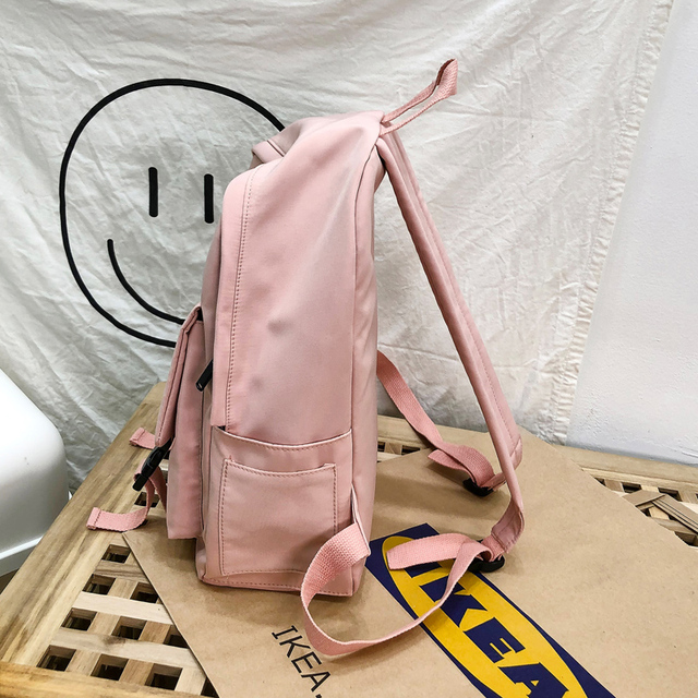 2020 Backpack Women Backpack Fashion Women Shoulder Bag solid color School Bag For Teenage Girl Children Backpacks Travel Bag 4