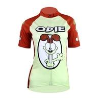 New Cartoon Odie Alien SportsWear Womens Cycling Jersey Cycling Clothing Bike Shirt Size S To 2XL