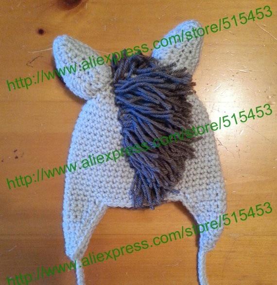 Free Shippingsuperb Crochet Newborn Brown Horse Baby Hat Beanie Cap