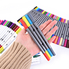 Artist Dual Head Brush Water Based Art Marker Pens With 0.4mm Fineliner Tip 18 24 36 Color Set for Sketching Drawing Painting