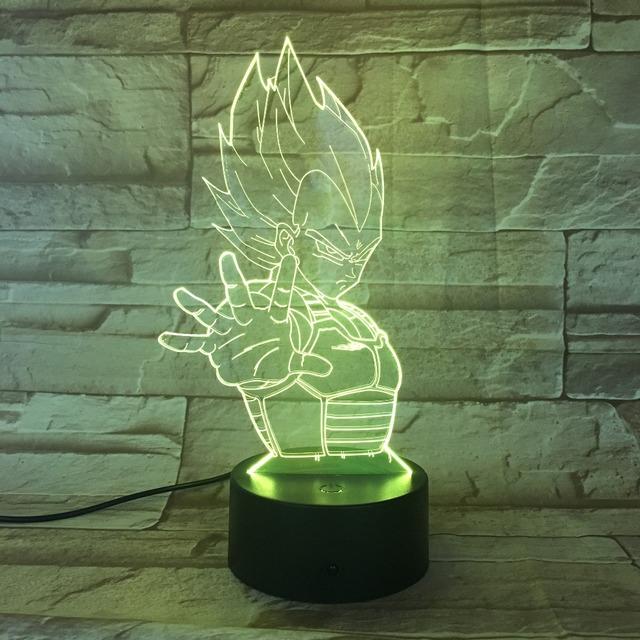 Dragon Ball Vegeta Lámpara 3D LED