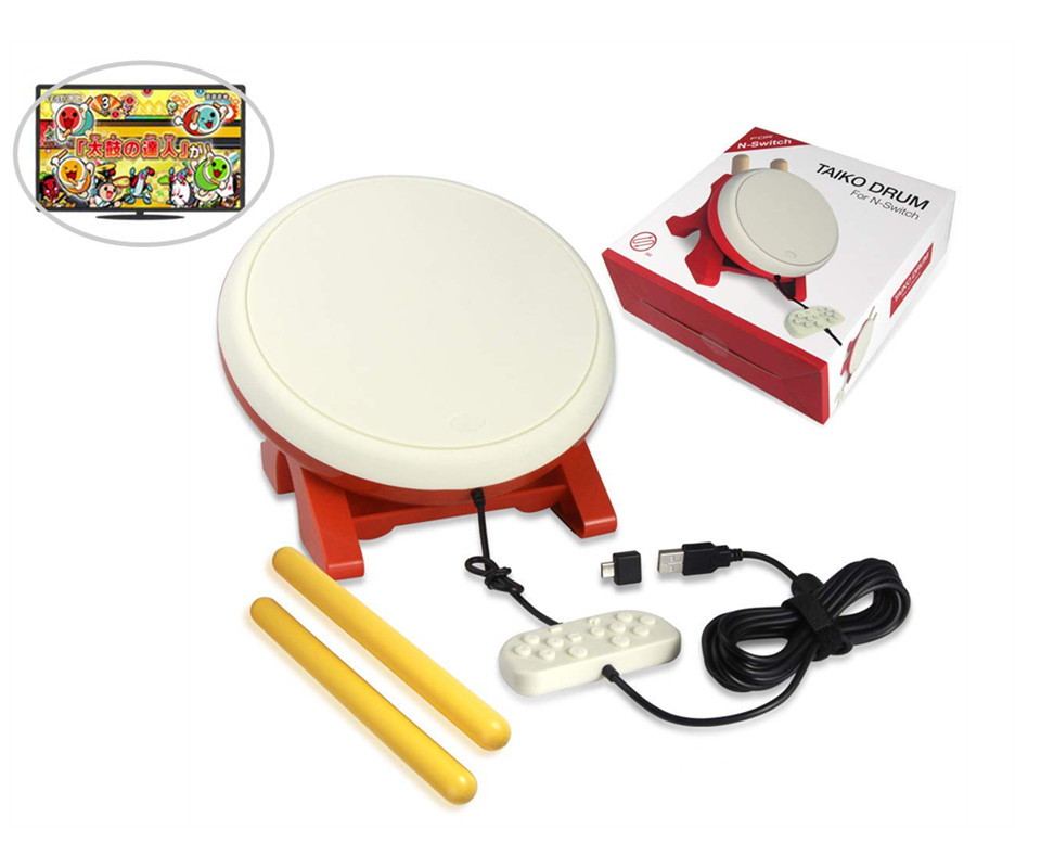 For Taiko Drum Compatible with Switch Taiko no Tatsujin Drum Controller Taiko Drum Sticks Video Games
