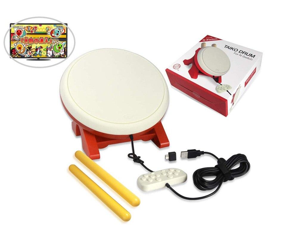 Pour Taiko tambour Compatible avec Switch Taiko no Tatsujin, contrôleur de tambour Taiko baguettes de batterie accessoires de jeux vidéo pour Nintendo