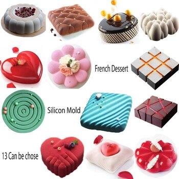 French Dessert Silicon Mold, Fondant Cake Silicone Mold, 3D Fondant Silicone Molds Cake Decorating tools moldes para reposteria