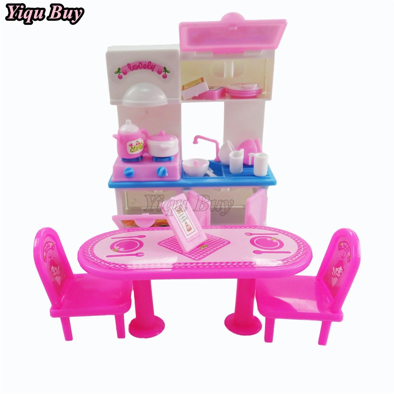 20 Pz/set Bambole Armadi Barbie Doll Accessori Per La Tavola Tavolo ...