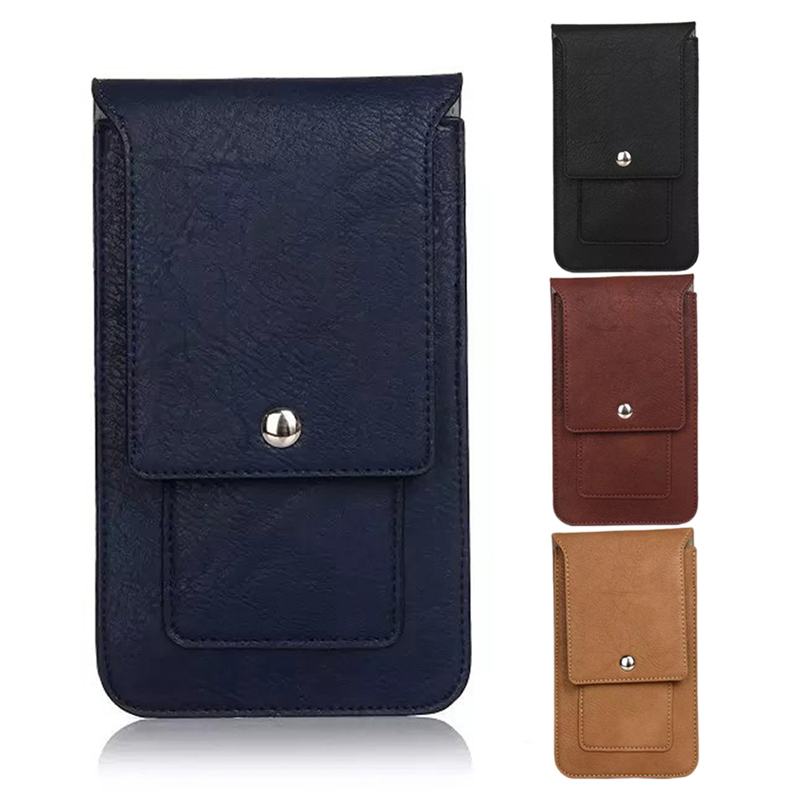 THINKTHENDO Fashion Phone Waist Flip Bag Leather Pouch Holster Belt Waist Pack Bag Pockets Model Casual Universal New Arrial