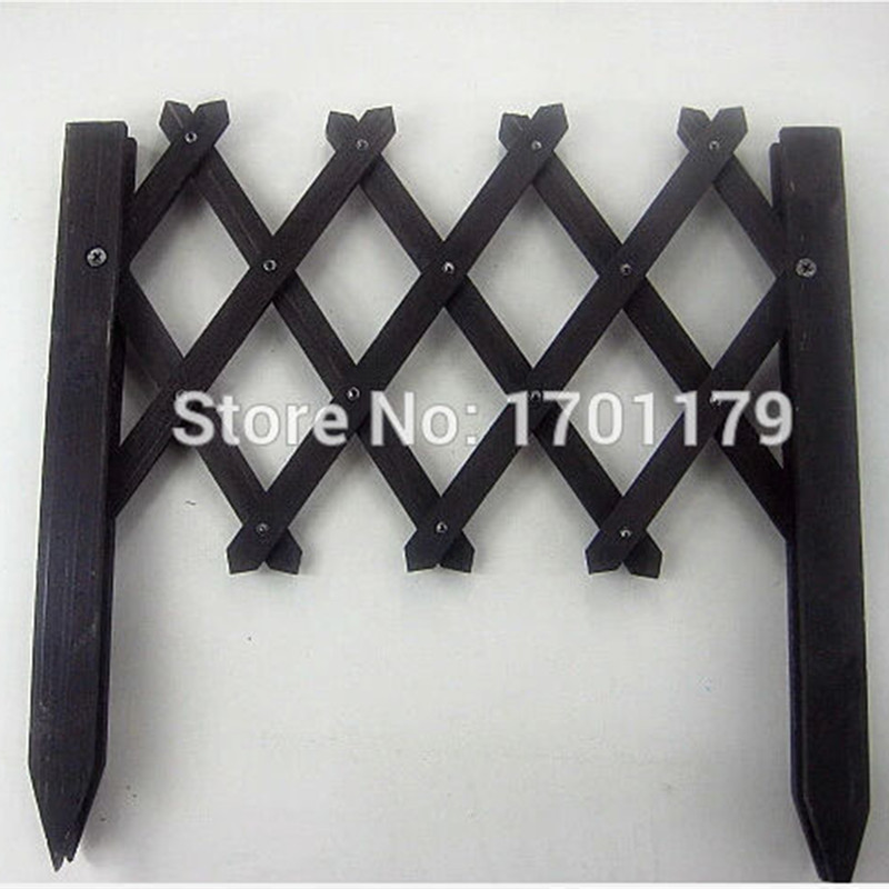 Green garden outdoor wood preservative small wooden movable partition fence