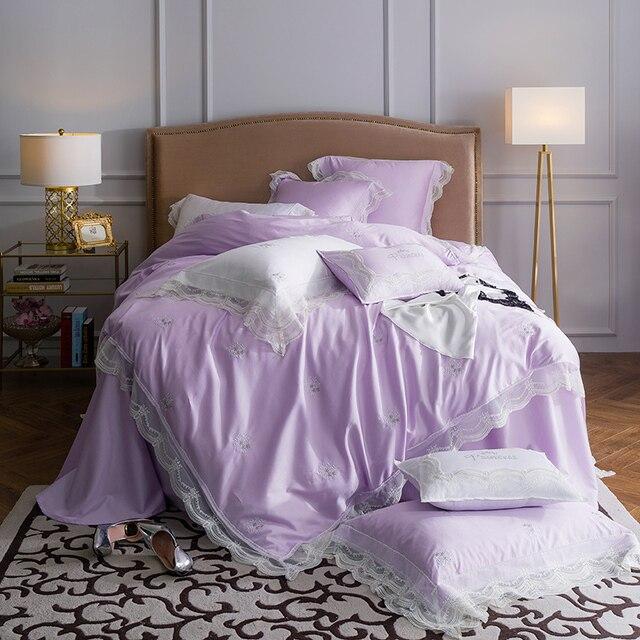 467pcs egypt cotton princess style luxury bedding set embroidered lace duvet cover
