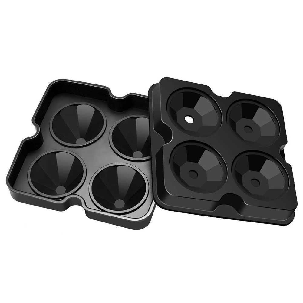4 hohlraum Diamant Form 3D Ice Cube Mold Maker Bar Party Silikon Trays Schokolade Form Küche Werkzeug