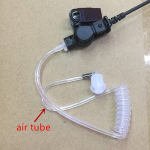 Image 5 - Grote PTT clear air tube headset oortelefoon M plug 2 pins voor motorola A8, ep450, cp040, gp88s, gp2000, Hytera walkie talkie