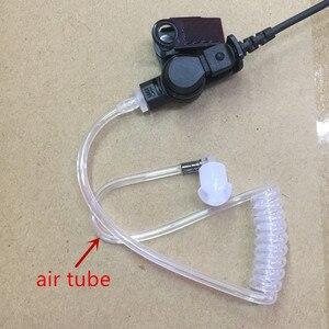 Image 5 - גדול PTT ברור אוויר צינור אוזניות אוזניות M תקע 2 סיכות עבור motorola A8, ep450, cp040, gp88s, gp2000, Hytera ווקי טוקי