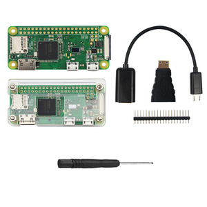 Image 4 - פטל Pi אפס W Starter ערכת 5MP מצלמה + RPI אפס W ABS מקרה + גוף קירור + 5V2A כוח מתאם + 16G SD כרטיס + מתאם ערכת מיני HDMI