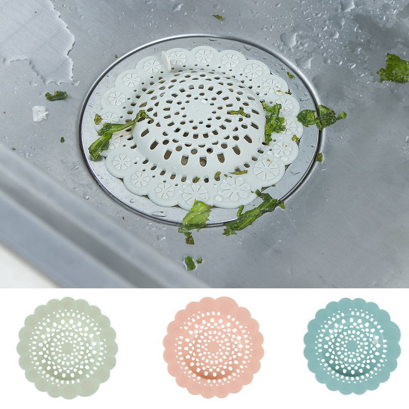 Kitchen Hollowing Flower Sink Strainer Bathroom Toilet Faucet  Accessories Supplies Sink Silicone filter Kitchen Tools E0