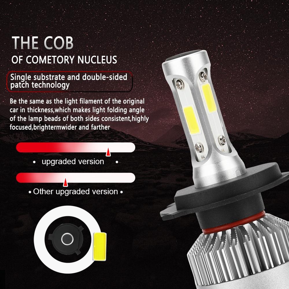 2 PCS H7 H4 H11 LED 12 V COB Headlight Mobil Bulb H1 H3 9005 9006 H13 - Lampu mobil - Foto 6