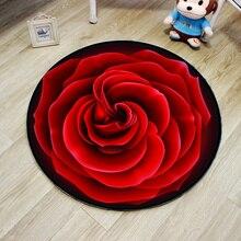 3D цветок Впитывающий Коврик для пола коврик для ног коврик для двери стул коврик нескользящий коврик для ванной комнаты круглый коврик для прихожей гостиной спальни