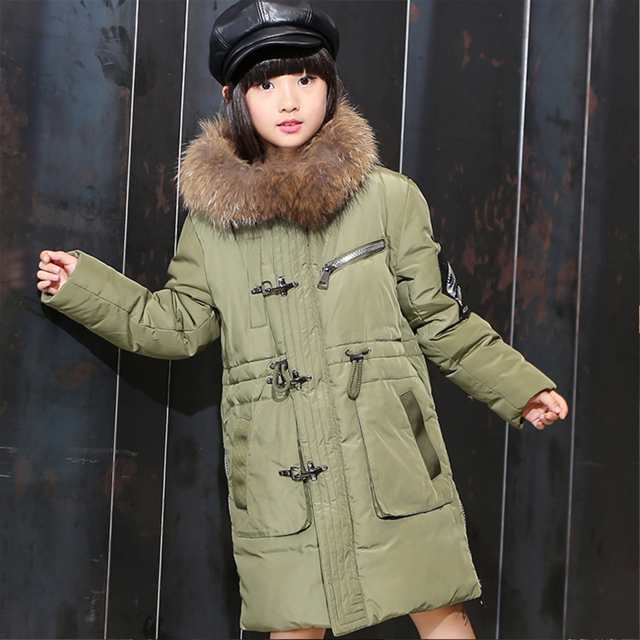 Girls Long Black Coat