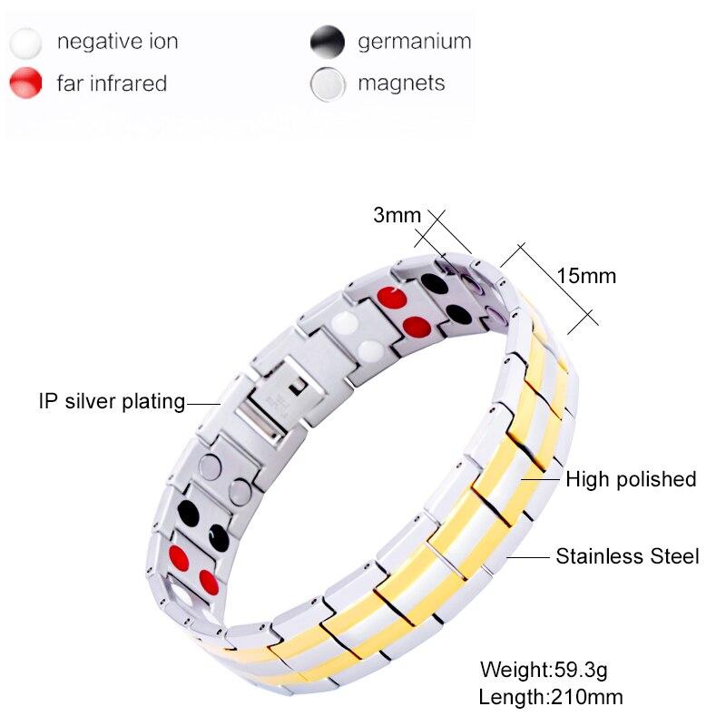 Virnal Fashion Men's Jewelry 2 colores diseño energía pulsera para - Bisutería - foto 2