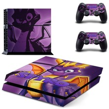 Game Spyro The Dragon PS4 Skin Sticker Decal Vinyl for Sony Playstation 4 Console and 2 Controllers PS4 Skin Sticker metro exodus ps4 skin sticker decal vinyl for sony playstation 4 console and 2 controllers ps4 skin sticker