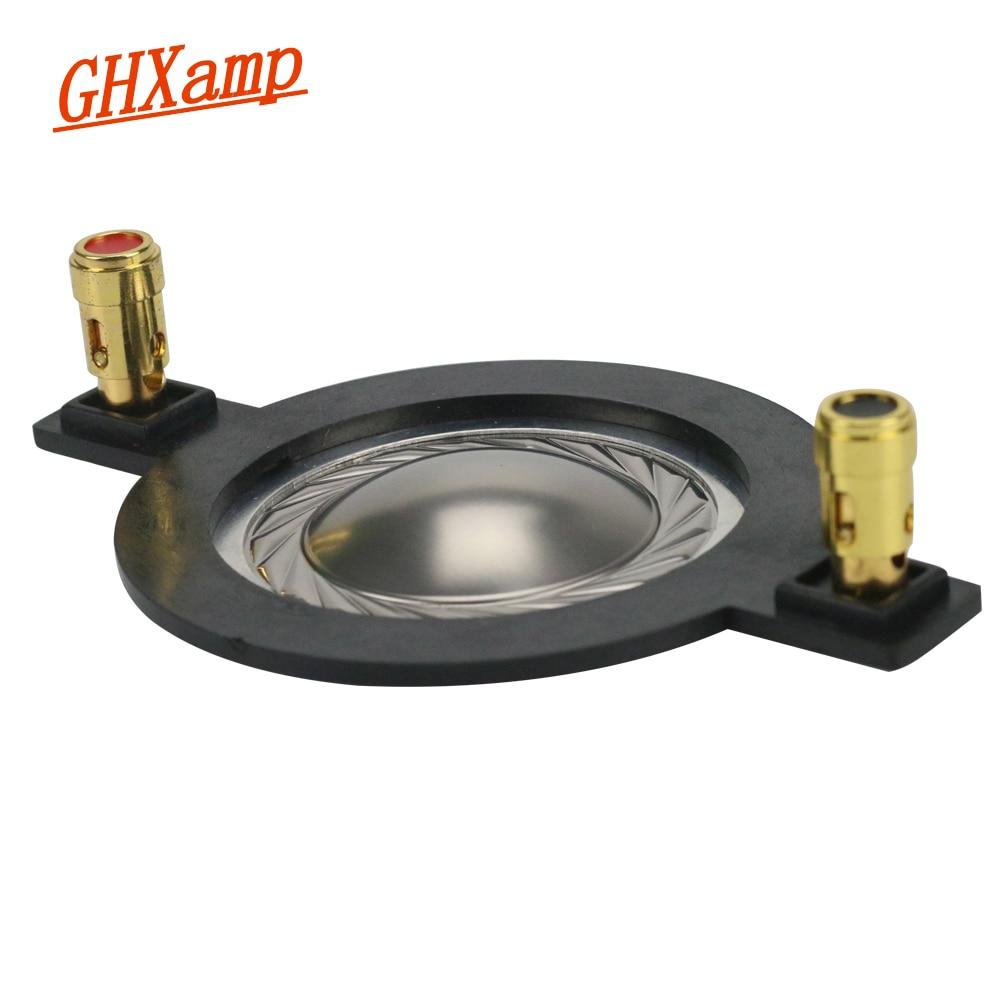 GHXAMP 34.4MM Tweeter Diaphragm Voice Coil Titanium Film Flat Aluminum Driver 34.5 Core Components With Column 90MM 1Pairs