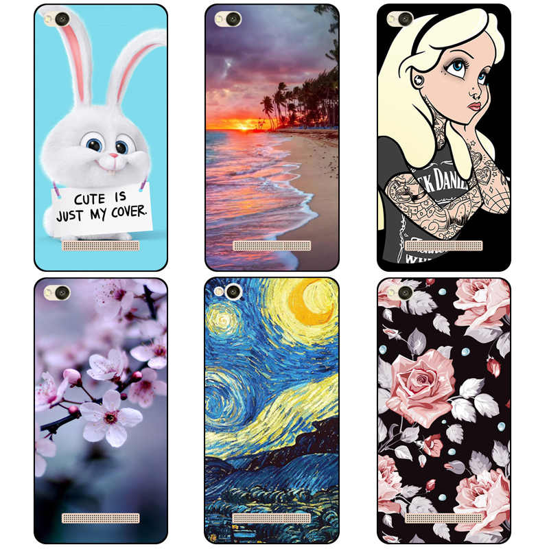 Colourful For Xiaomi Redmi 4A 5A 6A Case Soft TPU Silicone Colored Painting Phone Cases For Xiaomi Redmi 6A Redmi 4A 5A 6A Cover