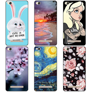 Colourful For Xiaomi Redmi 4A 5A 6A Case Soft TPU Silicone Colored Painting Phone