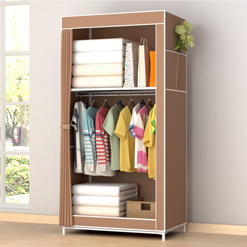 Bedroom:  Portable Wardrobe Clothes Closet Home Student Wardrobe Clothes Storage Organizer Modern Home Furniture Bedroom Storage - Martin's & Co