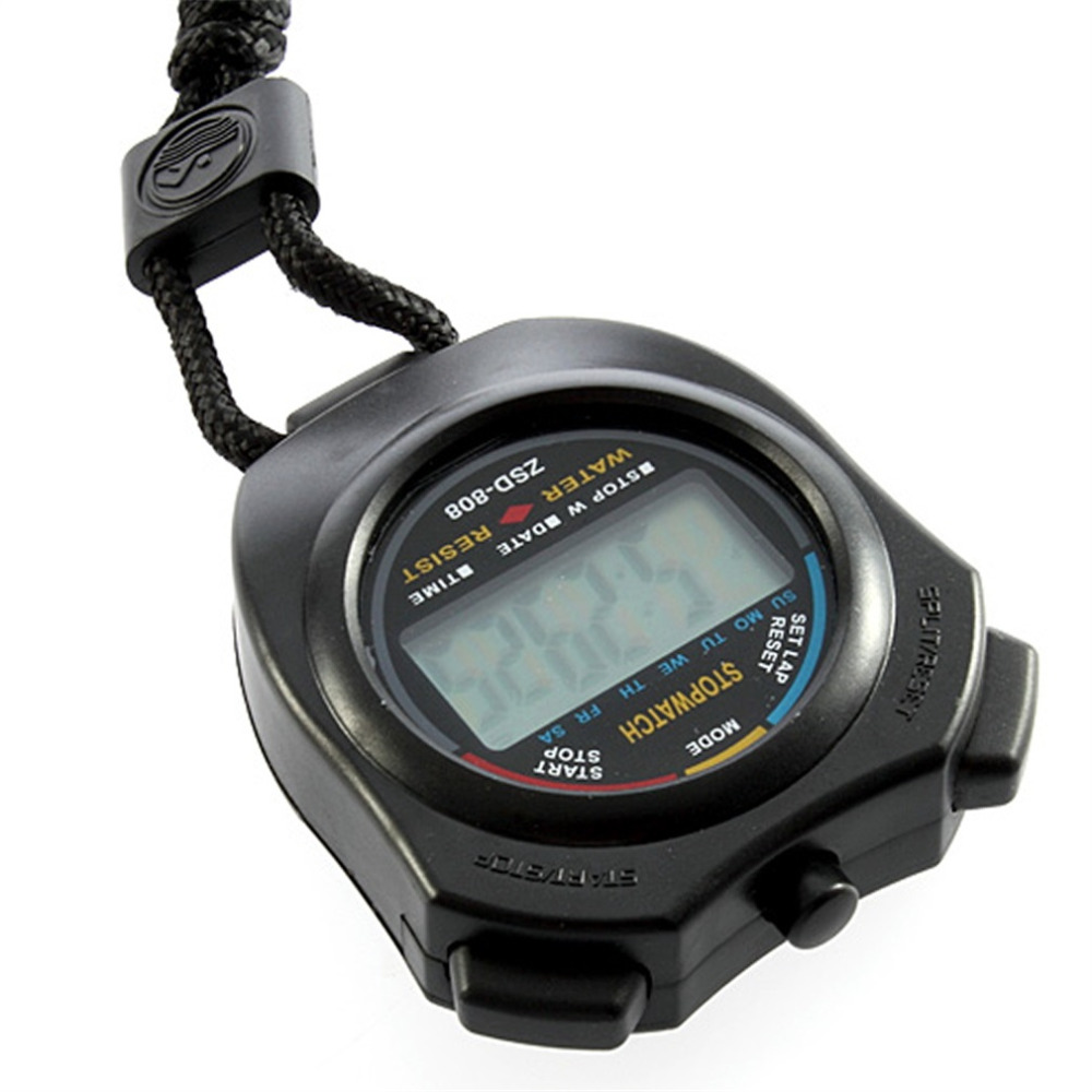 1pcs Stopwatch Chronograph Handheld Digital LCD Sports Counter Timer with Strap Professional Hot Worldwide
