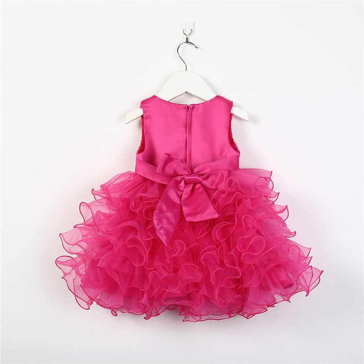 Лидер продаж, кружевное платье с цветочным узором для девочек на свадьбу крестины для маленьких девочек, праздничные платья для детей 1 год, платье на день рождения для маленьких девочек