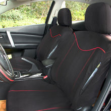 Universal Car Seat Covers Front Seat Bench Seat Covers Wheel Cover Set Black with Red Edge Decoration mgp 10119ssp1bk caliper covers engraved edge front