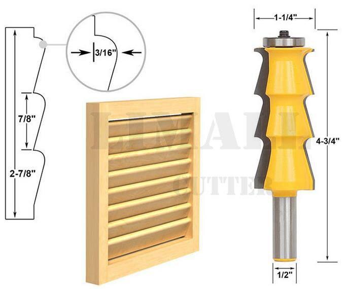 1pcs wholesale  Woodworking cutter shutters handrail cutter milling cutter line knife 1piece wholesale engraving machine woodworking milling cutter line knife