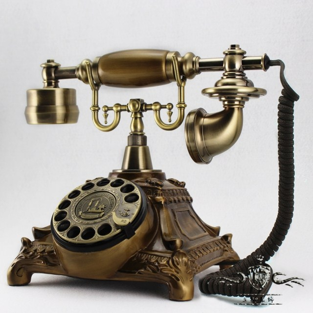 Metal rotary dial antique telephone vintage telephone bell machinery ...