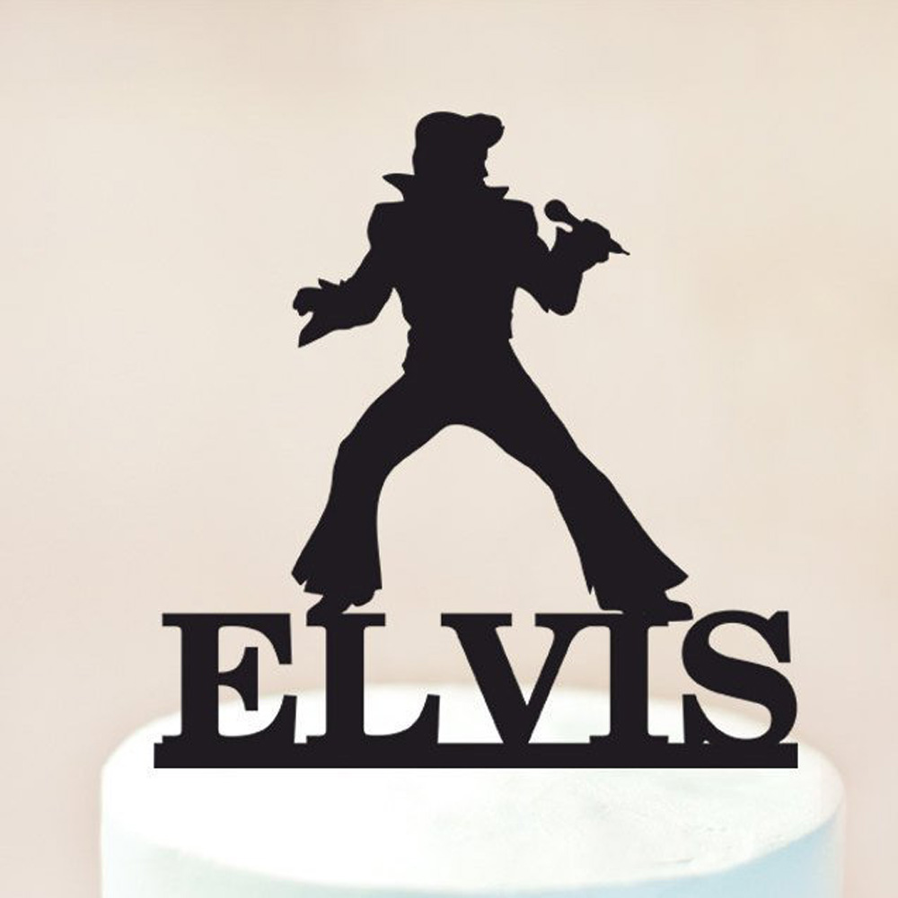 Tremendous Personalized Name Happy Birthday Cake Topper Elvis Cake Topper Birthday Cards Printable Opercafe Filternl