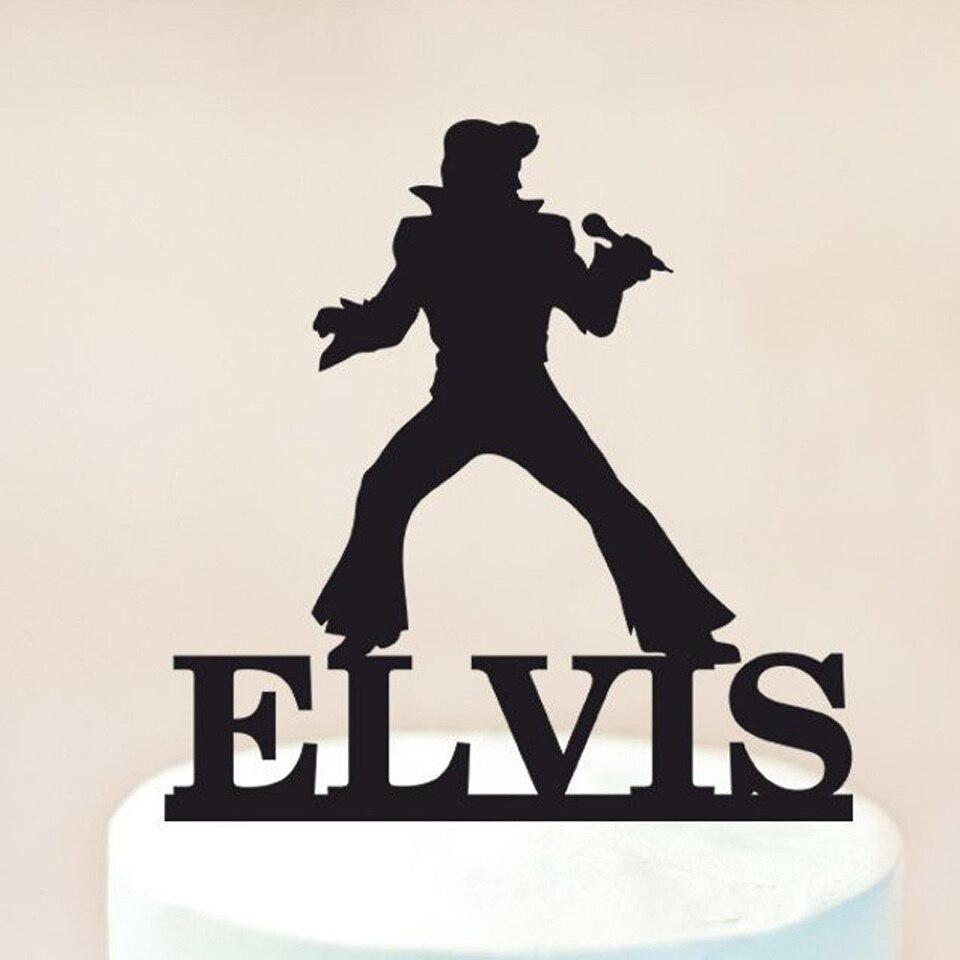 Wondrous Personalized Name Happy Birthday Cake Topper Elvis Cake Topper Funny Birthday Cards Online Overcheapnameinfo