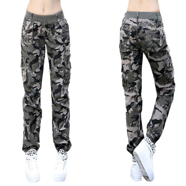 mode la plus désirable design intemporel haute couture € 22.8 8% de réduction 2018 été Pantalon femme joggers femmes Camouflage  décontracté été skinny Cargo Pantalon élastique taille militaire Harem ...