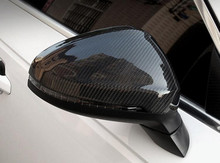 2pcs Full Replacement Carbon Fiber Car Rear Side Trunk Mirrors Rearview Cover Trim For 17 Audi