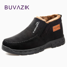 BUVAZIK 2018 winter shoes men warm snow shoes men soft and comfortable men casual shoes winter loafers warm zapatos de hombre