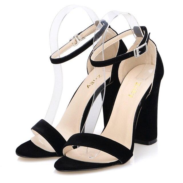 LOSLANDIFEN Newest Women Open Toe Sexy Ankle Straps Sandals High ...
