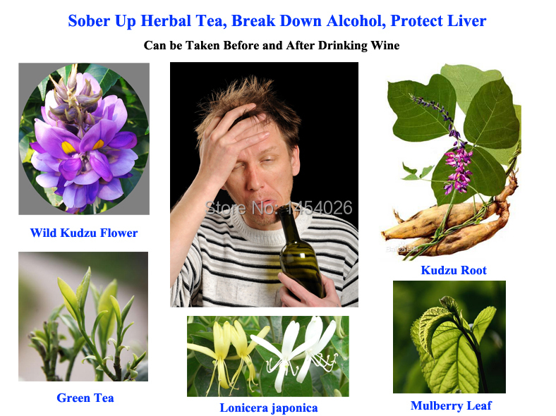 Sober Up Herbal Tea, Break Down Alcohol, Protect Liver, Can be Taken Before and After Drinking Wine
