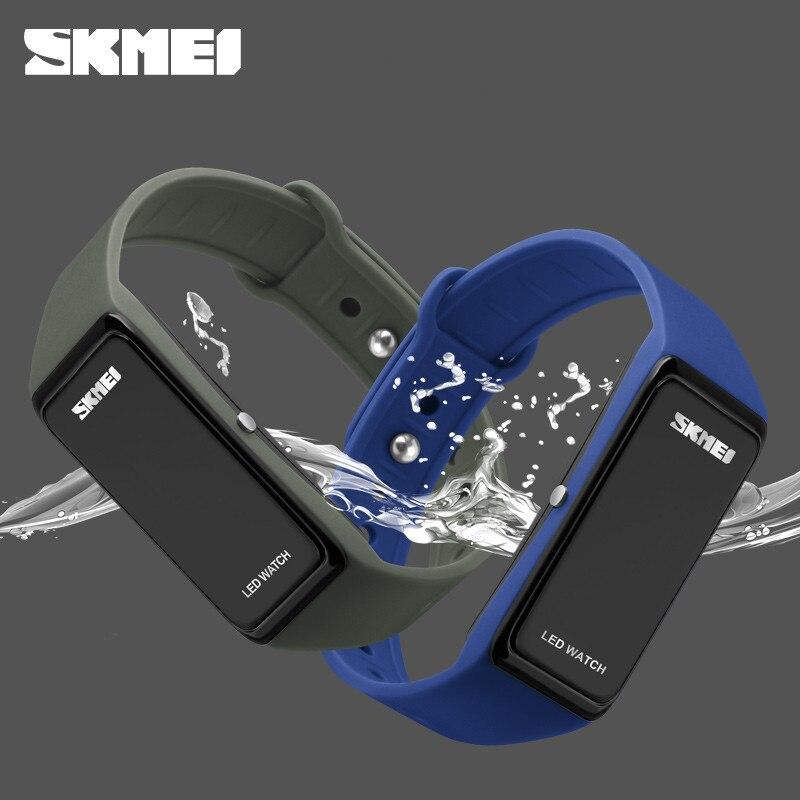 SKMEI LED Sports Watches Waterproof Swim Dress Digital Watch Men Fashion Outdoor Student Wrist Watches For Men Women цена и фото