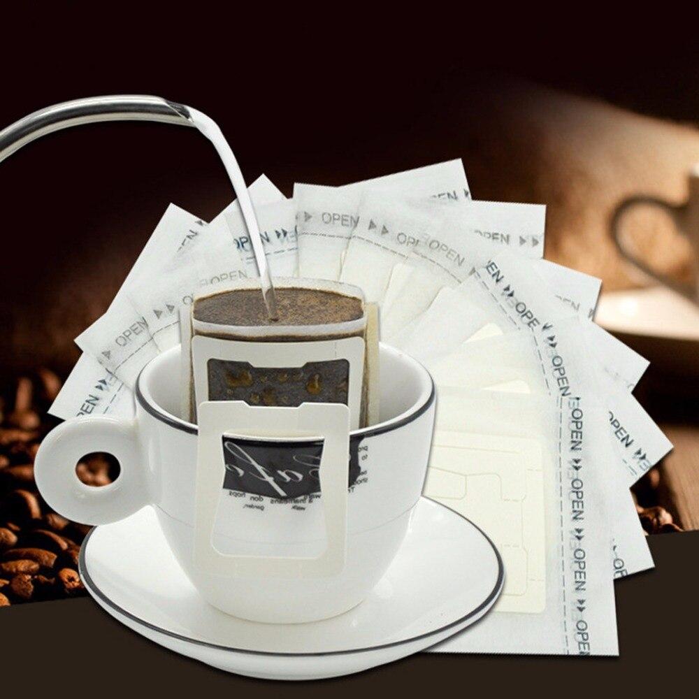 где купить 50Pcs/Set Ear Style Coffee Filter Paper Drip Net Bag Hanging Disposable Portable Dripper по лучшей цене