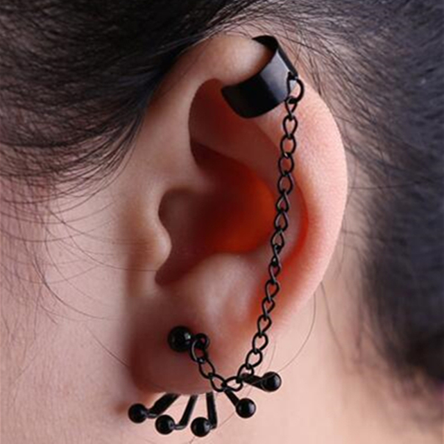Long Chain Earrings Claw Shape Cool Ear Jewelry Man Woman Fashion Stud