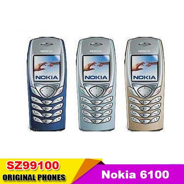 Цена за Оригинальный Nokia 6100 оригинальный разблокирована GSM 900/1800/1900 мобильный телефон Бесплатная Доставка восстановленное