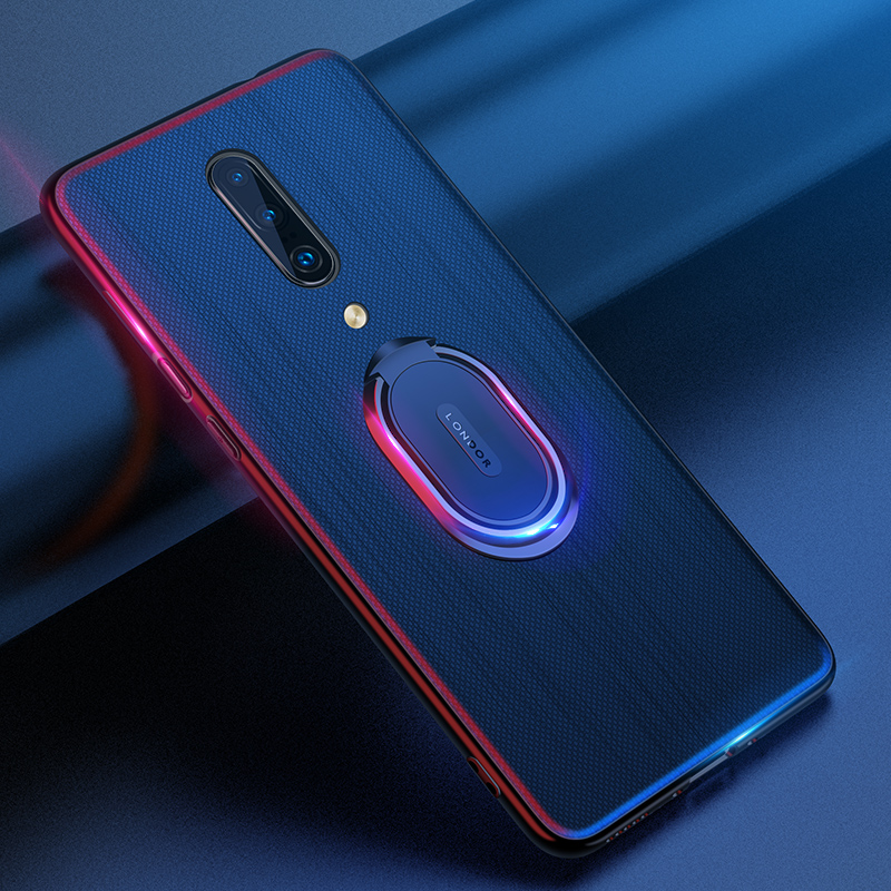 Oneplus 7 Pro Case Cover Luxury Leather Magnetic Ring Stand Holder Phone Cases For Oneplus 7 One Plus 7Pro Back Cover Coque