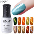 HNM 8ML UV Gel Nail Polish 3D Magnetic Cat Eye Nail Gel Soak Off Gel Polish Long Lasting 1pcs Cat's Eye Vernis DIY Nail Art