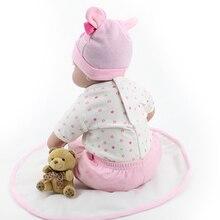 Lifelike Realistic Baby Doll Adora Reborn Girl Silicone Dummy 22-Inch Kids Pretend Mommy Toy Gift