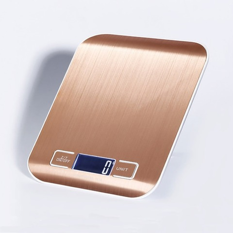 Booyah New Listing 10KG/1g Stainless Steel Portable Digital Kitchen Scales High Precision Rose gold Electronic Weighing Scales Islamabad