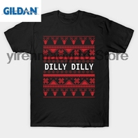 GILDAN 100 Cotton O Neck Printed T Shirt Dilly Dilly Funny Christmas Ugly Sweater T Shirt