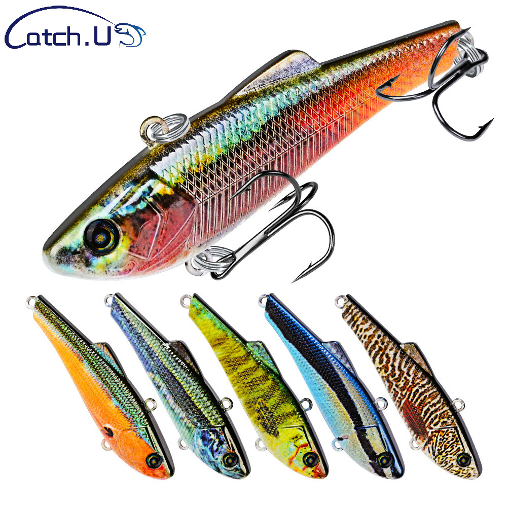 """Catch.u Pencil Fishing Lures Vib Bait 7g-0.25oz/7cm-2.76"""" Fishing Tackle 8# Hooks Baits 10 Colors Style 3d Eyes Bass Lure Making Things Convenient For The People"""