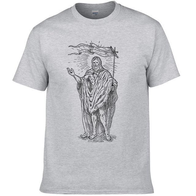 2018 Jesús cristiano Cotone camiseta hombres camiseta Hip Hop Top y camiseta WMY49