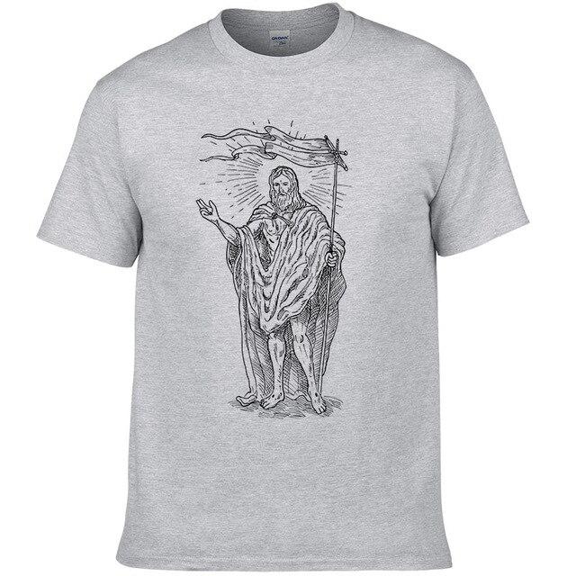 2018 Jesus Christian Cotone T männer T-Shirt Hip Hop Top und T-Shirt WMY49